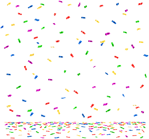jpg library library Confetti border clipart. Png clip art image