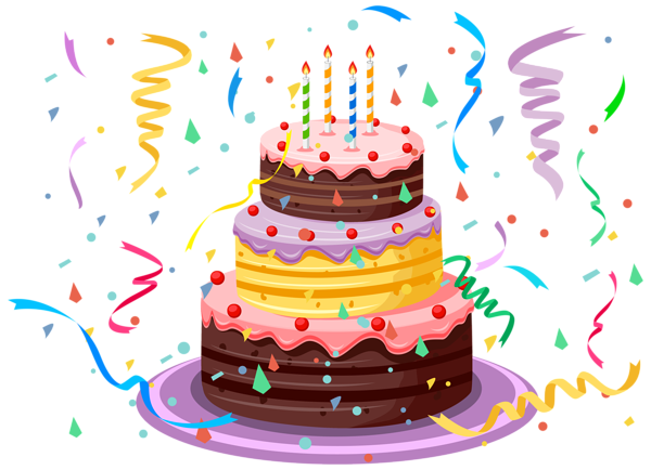 picture transparent library Birthday Cake with Confetti PNG Clipart Picture