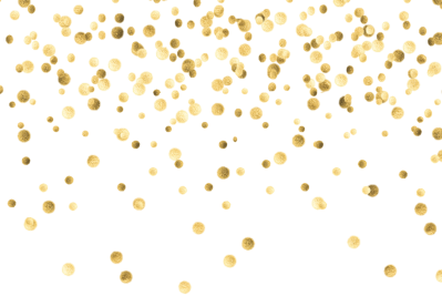 vector black and white stock Top Gold Confetti Falling Png