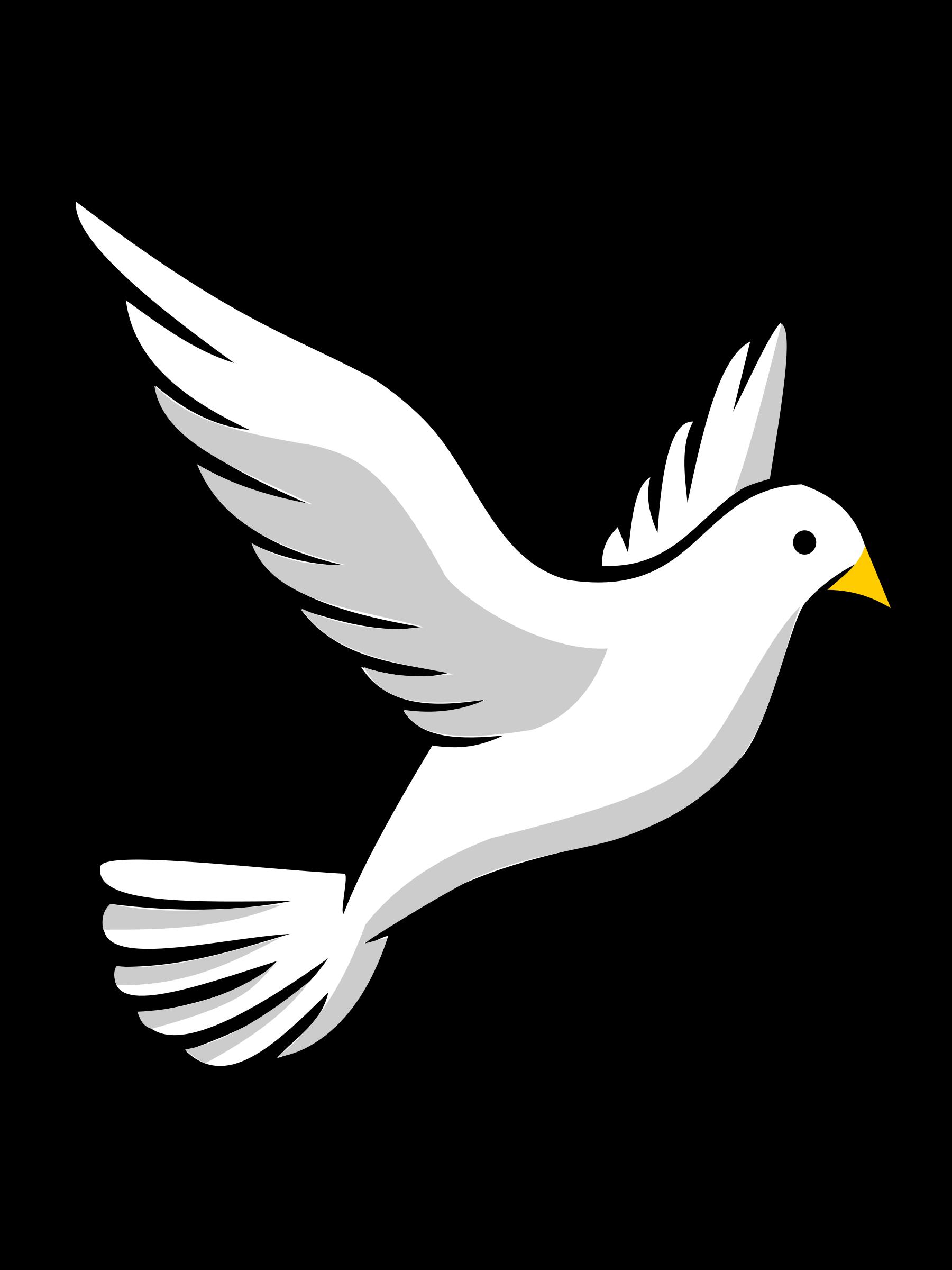 clip art black and white library Religious Dove Clip Art