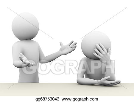 banner stock Stock illustration d concept. Conflict clipart 3d man