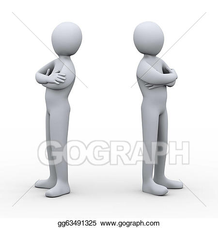 png royalty free Conflict clipart 3d man. Stock illustration d people
