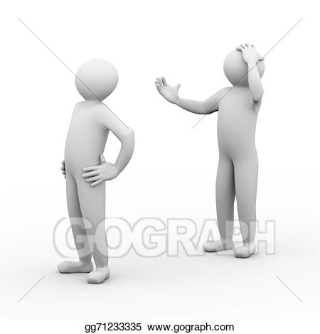 banner royalty free library Stock illustration d people. Conflict clipart 3d man