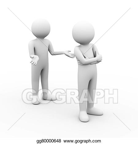 jpg freeuse stock Conflict clipart 3d man. Drawing d people argument