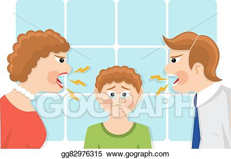 clip art freeuse stock Conflict clipart parent child. Clip art vector of