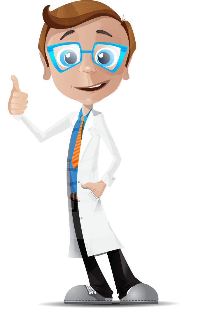 picture freeuse download Dorky cartoon character dorkster. Vector doctor