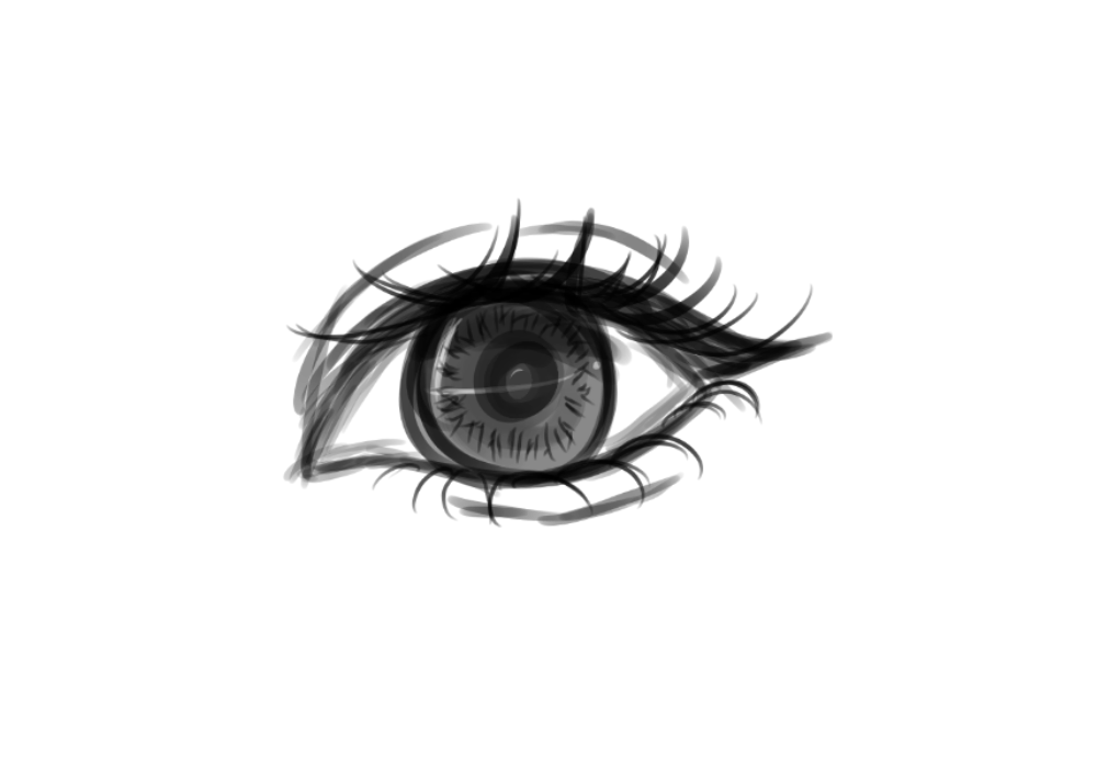 graphic black and white stock scratchpad drawing eye #115517834