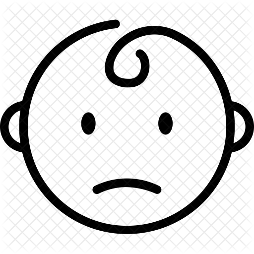 graphic stock drawing kid sad #94438604