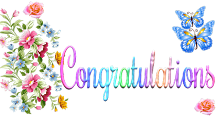 clip black and white stock Glitter graphics . Congratulations clipart.