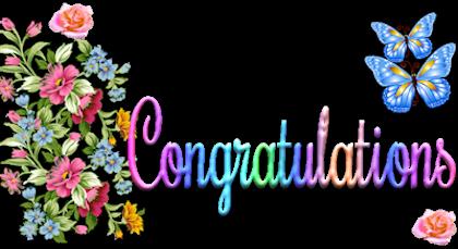 clip black and white stock Glitter graphics . Congratulations clipart.