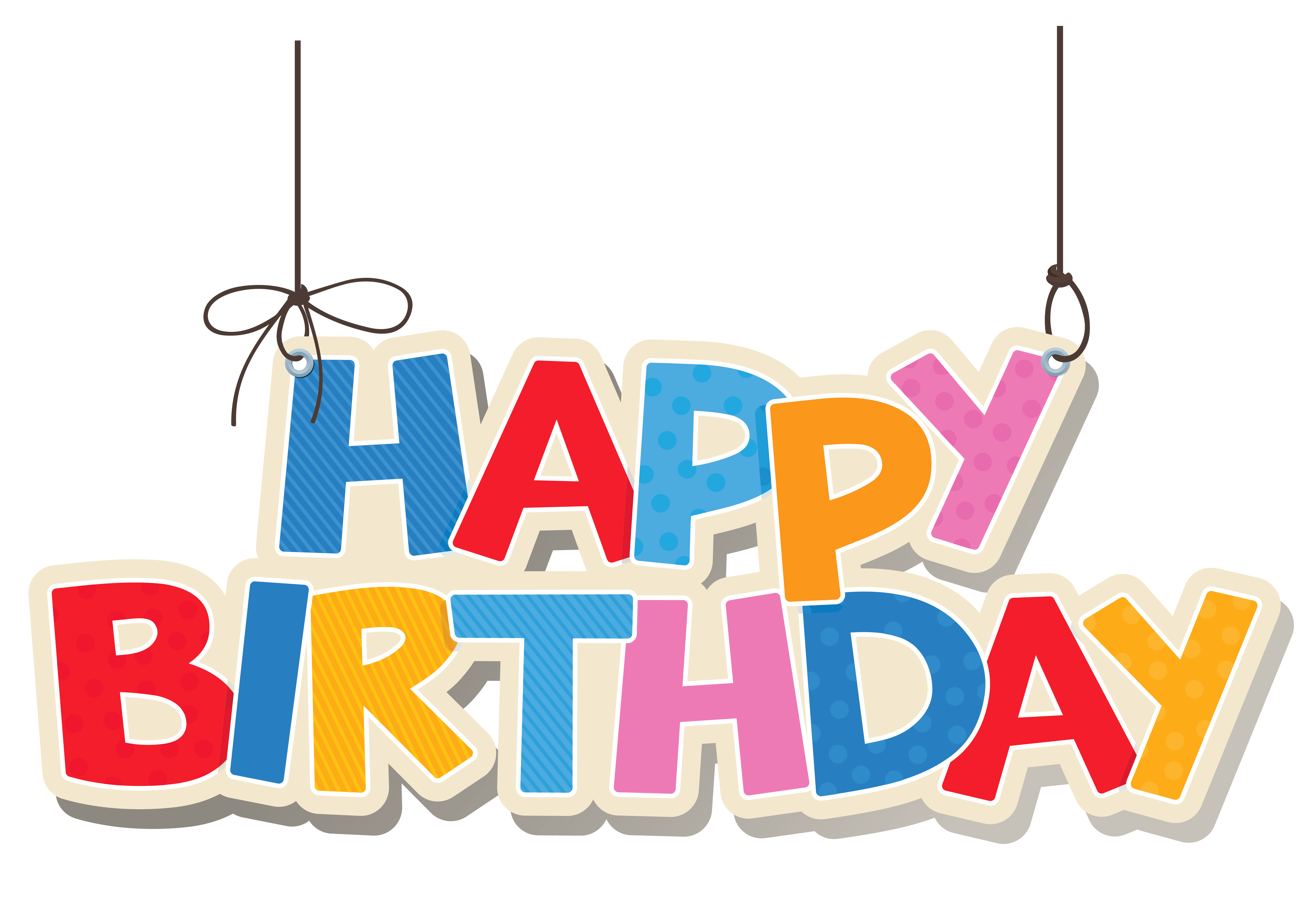 image transparent download Hanging Colorful Happy Birthday PNG Clipart Picture
