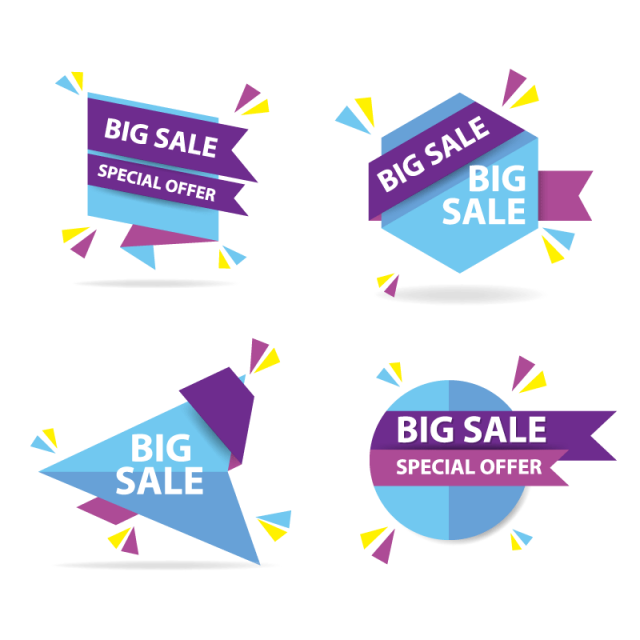 picture royalty free stock Colorful shopping sale banner template