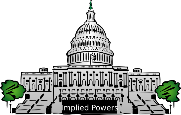 svg black and white library Implied powers clip art. Congress clipart.