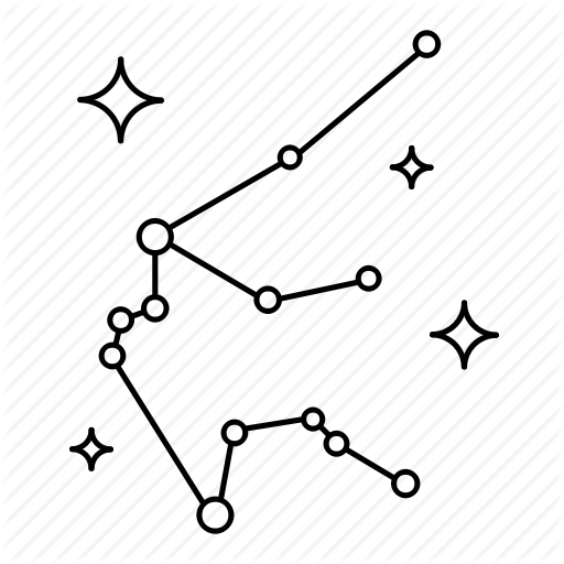 image Star sign constellations by. Constellation vector black and white.