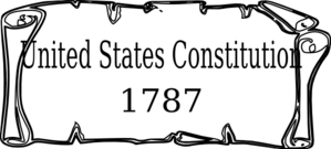 banner black and white stock Clip art at clker. Constitution clipart.