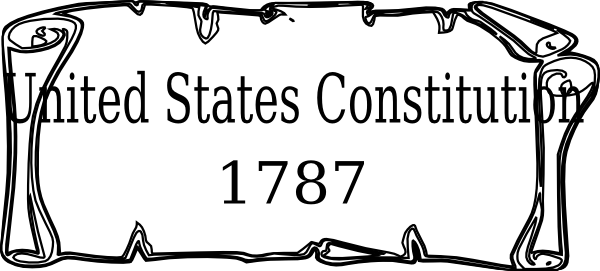 picture transparent library Clip art at clker. Constitution clipart black and white