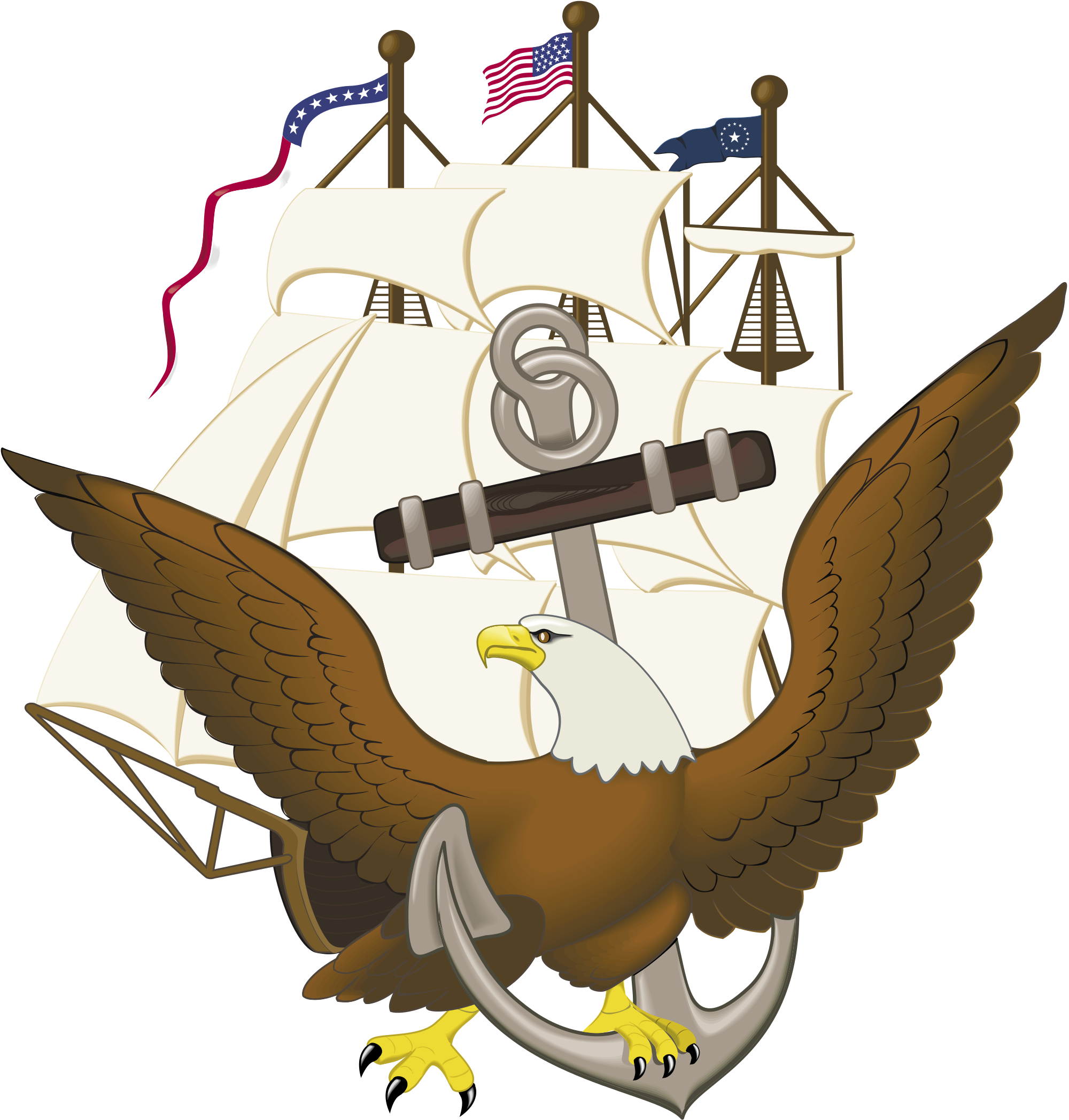 clip art freeuse File anchor constitution and. Vector anchors eagle