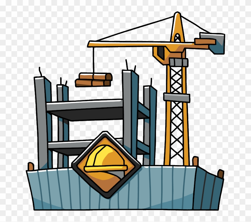 svg black and white download Construction clipart. Freeuse stock building