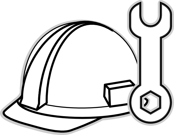 banner freeuse library Worker free download . Construction clipart black and white.