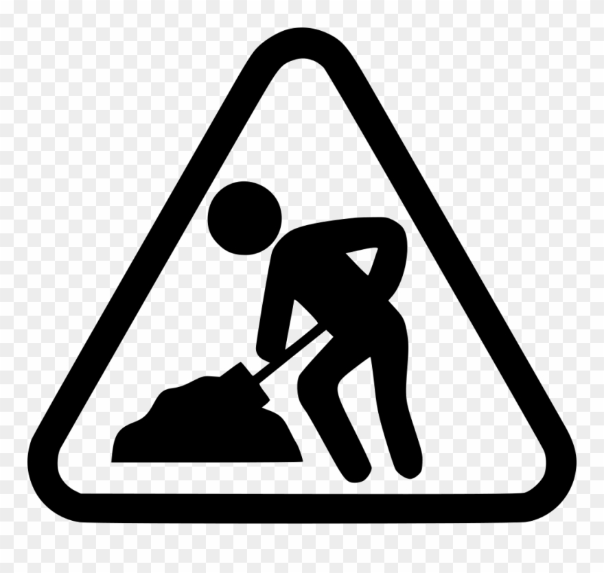 svg library Construction clipart black and white. Work in progress icon.