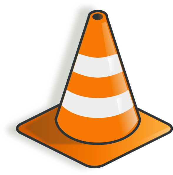 banner royalty free stock Construction Cone Clip Art at Clker