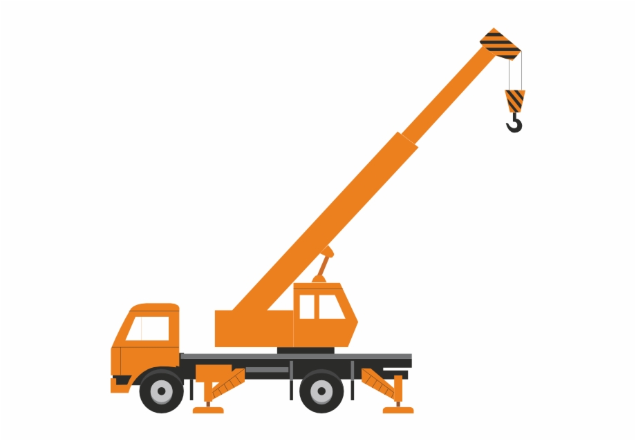 jpg black and white stock Construction crane clipart. Without load clip art.