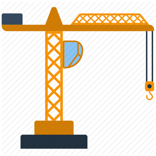 jpg free library Icon set by pavel. Construction crane clipart.