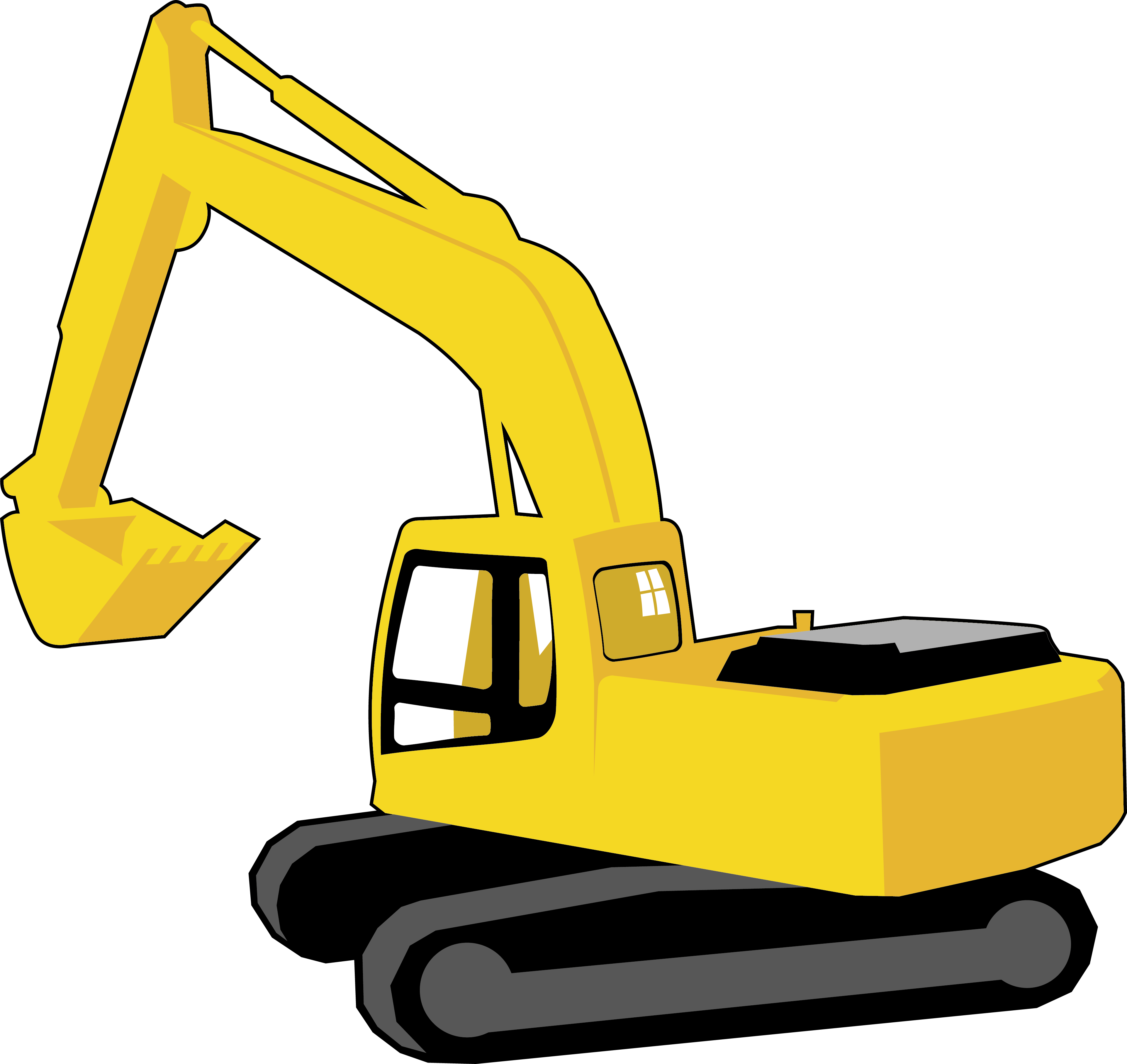 clip art black and white download Excavator Clipart at GetDrawings