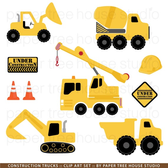 svg black and white library Trucks clip art excavator. Construction truck clipart.