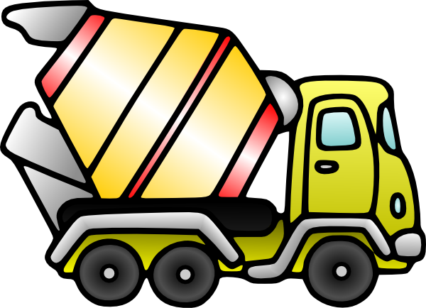 clip art black and white library Mixer Truck Clip Art at Clker