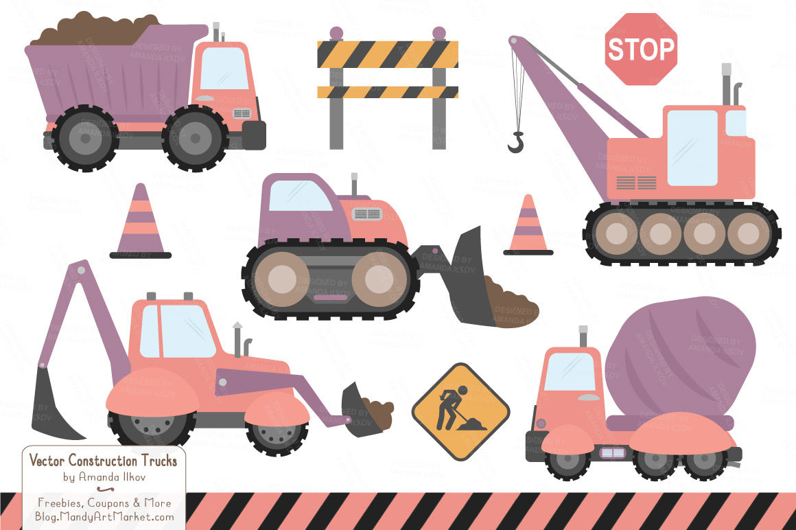 svg library Trucks in vintage by. Construction vehicle clipart.