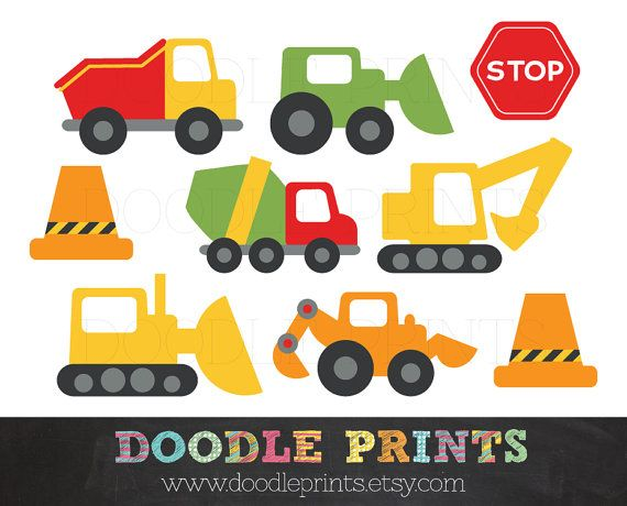 vector freeuse stock Trucks digital clip art. Construction vehicle clipart.