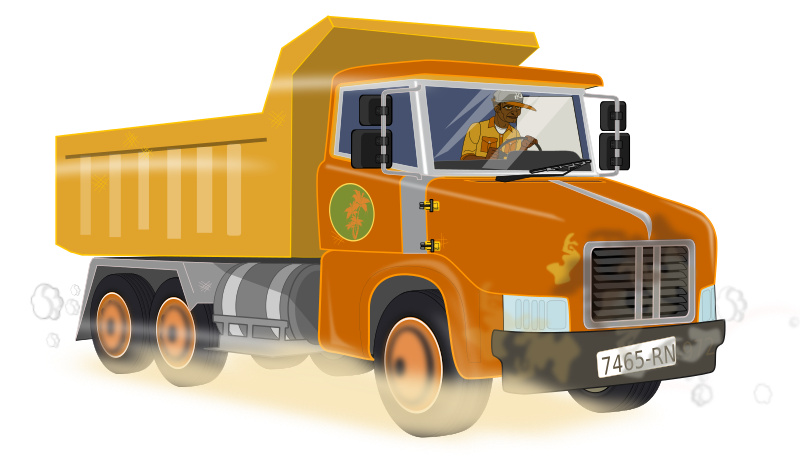 jpg black and white stock Construction vehicles clipart. Dump truck working download.