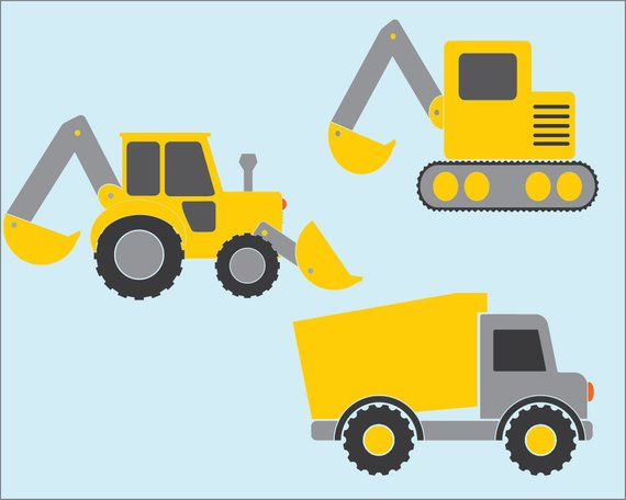 vector freeuse stock Vector transportation . Construction vehicles clipart.