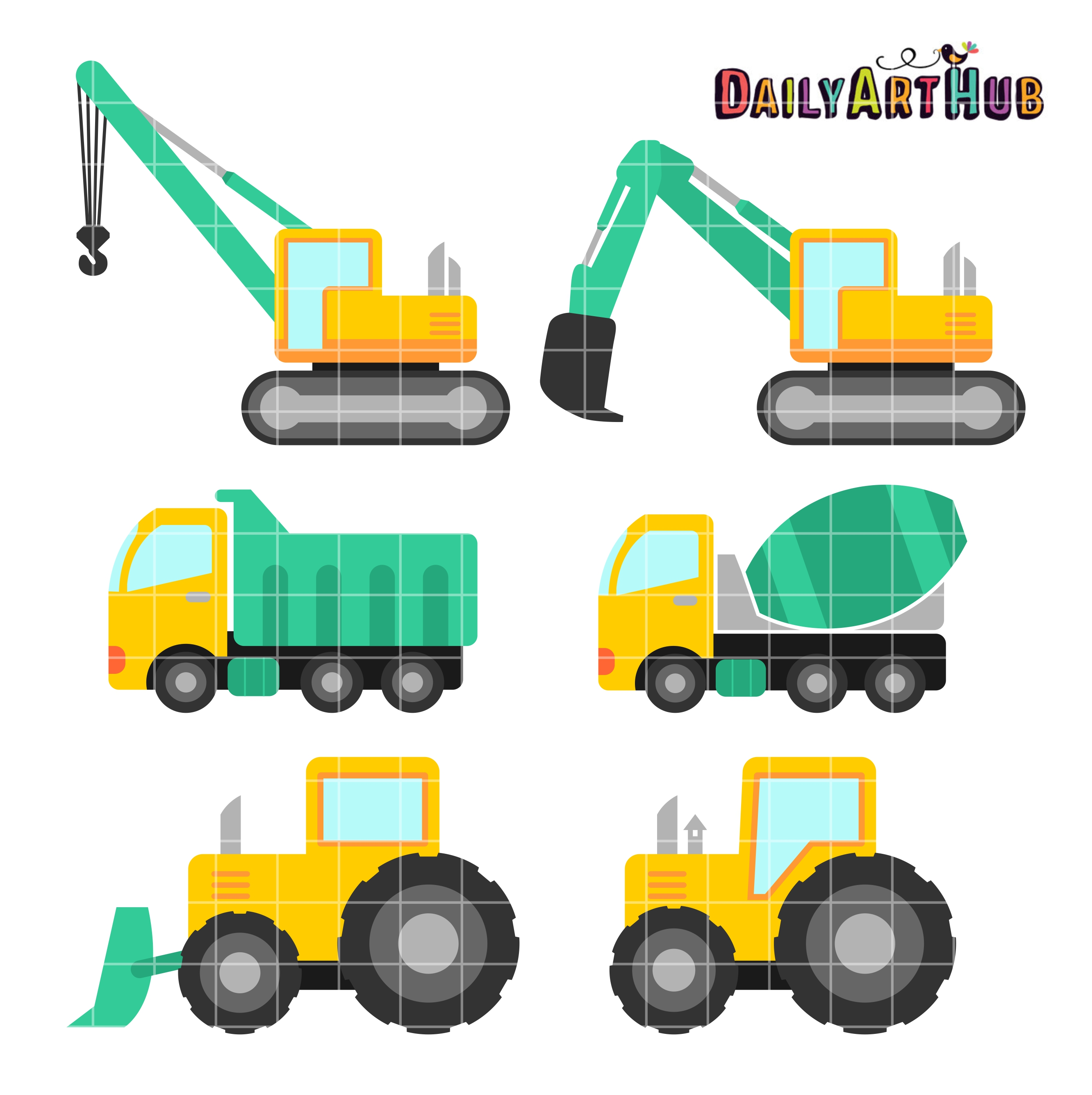jpg transparent library Free vehicle cliparts download. Construction vehicles clipart.