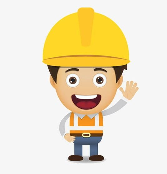 jpg royalty free library Png cartoon character . Construction worker clipart.