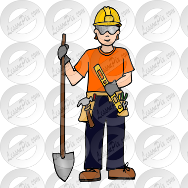 clip art transparent stock Construction worker clipart. Picture for classroom therapy.