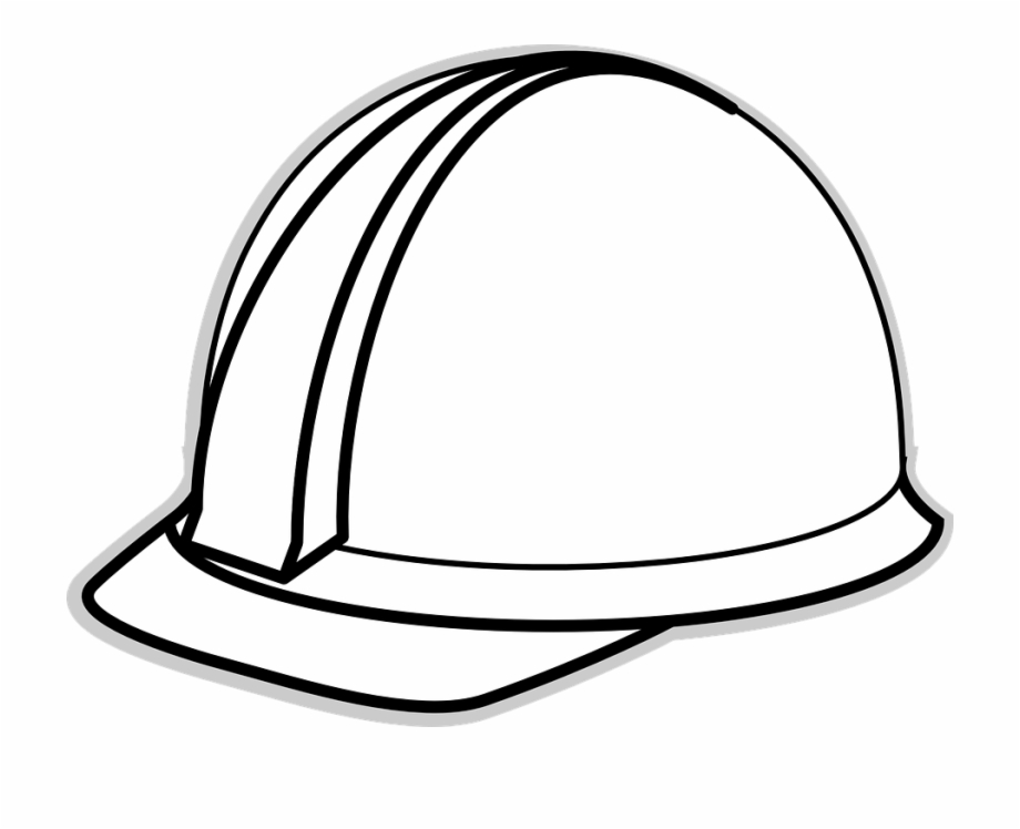 picture Construction worker hat clipart. Safety helmet hard white.
