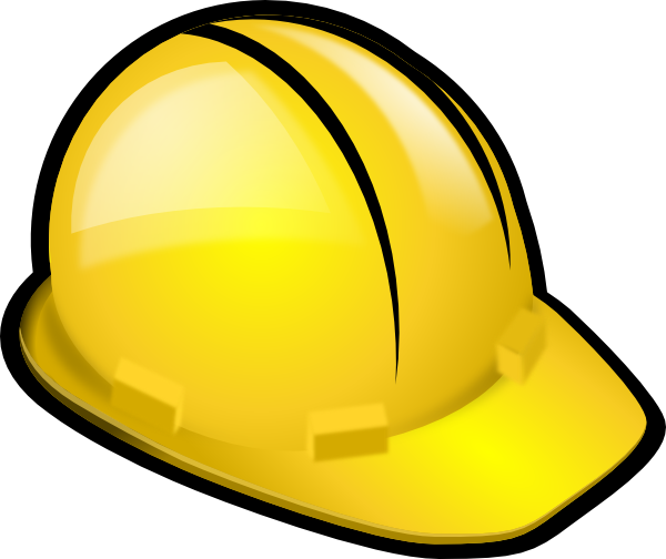 image freeuse stock Yellow hardhat clip art. Construction zone clipart.