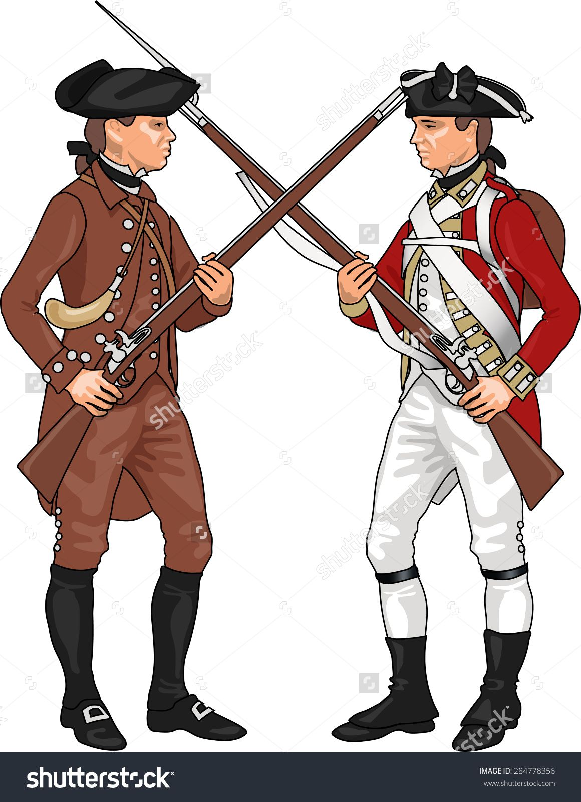 clip library stock British soldier revolutionary war. Continental army clipart.