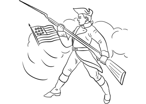 download Continental army clipart. Soldier coloring page free.