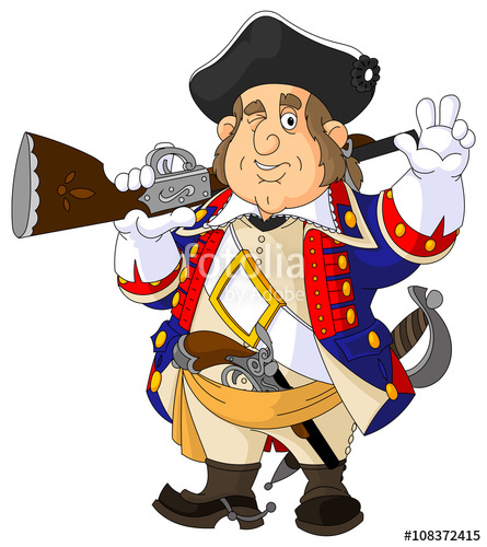 clip art library American revolutionary war soldier. Continental army clipart