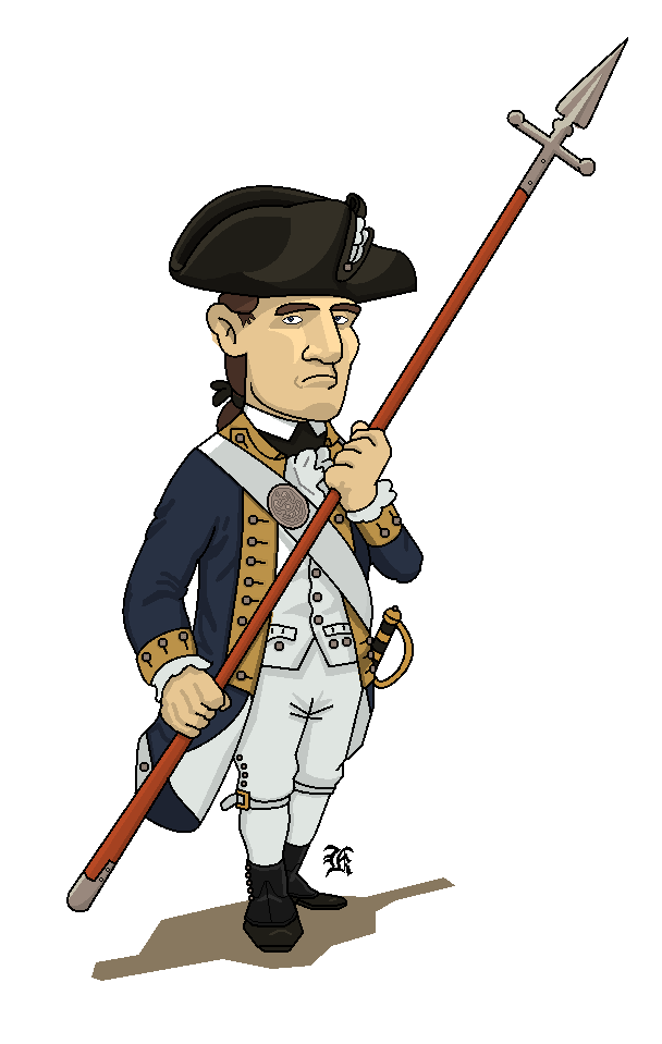 picture library download Cartoon soldier drawing transparent. Continental army clipart