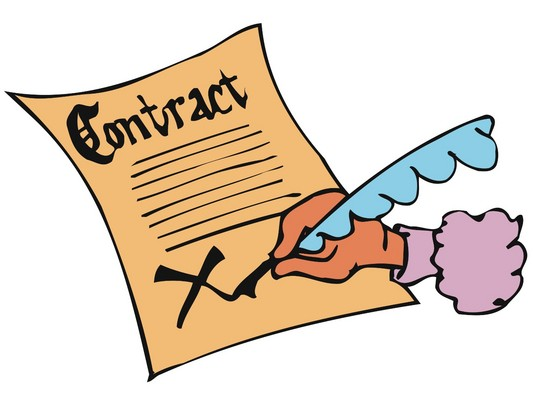 banner Contract clipart. Contracts clip art panda