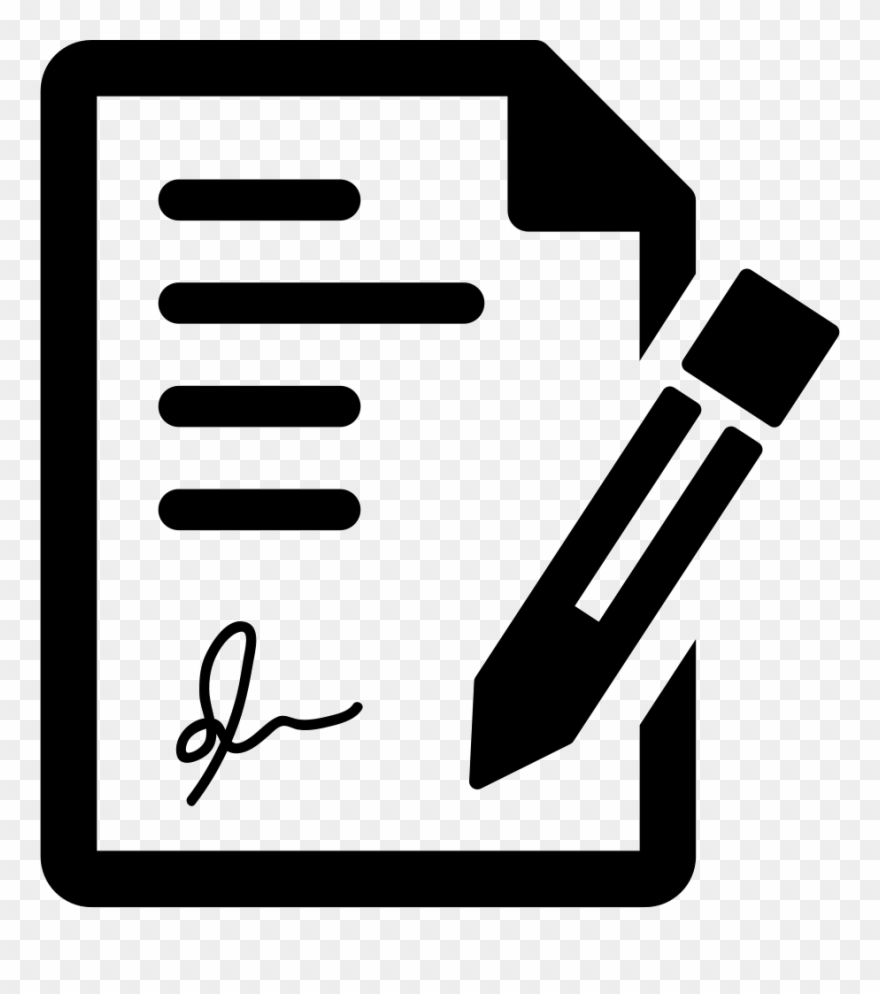 free library Signing the svg png. Contract clipart