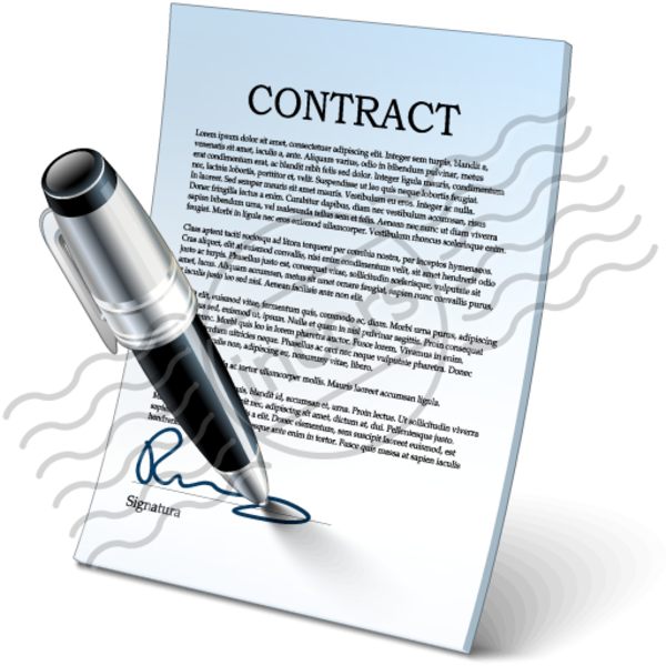 transparent download Contracts clip art panda. Contract clipart