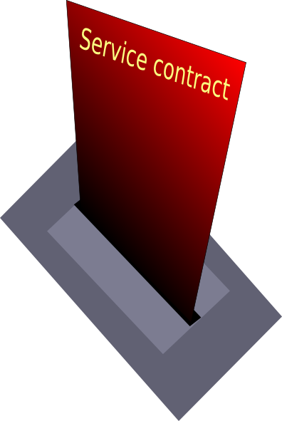 clip black and white library Service Contract Clip Art at Clker
