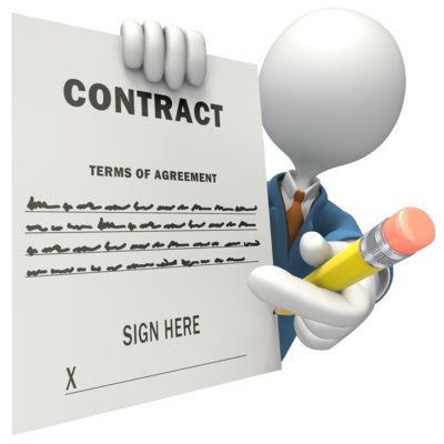 graphic freeuse download contract clipart lease #77571451