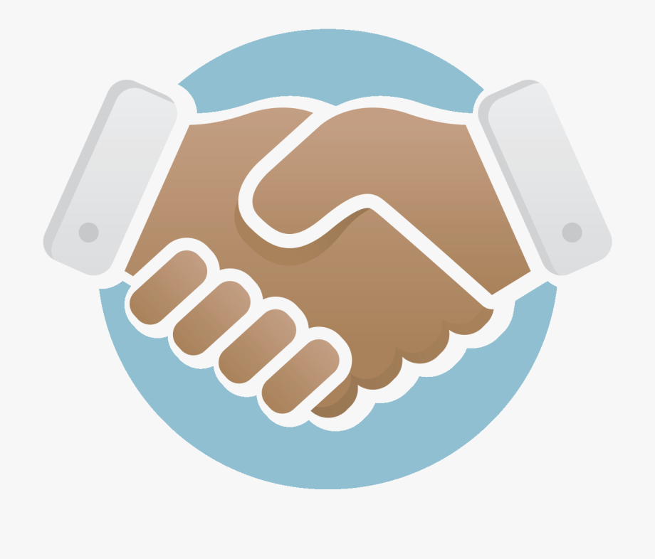 picture transparent Handshake logo png icon. Contract clipart vector