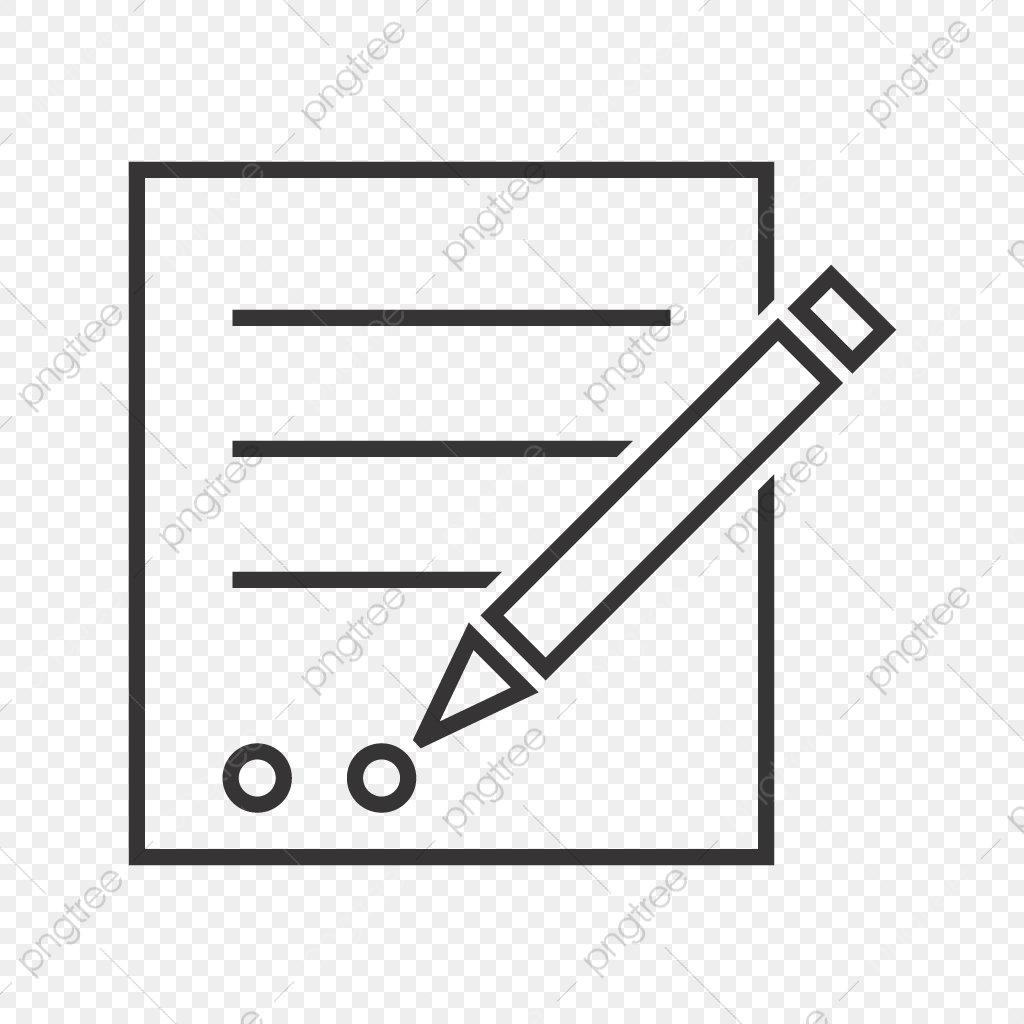 image freeuse download Line black icon written. Contract clipart vector
